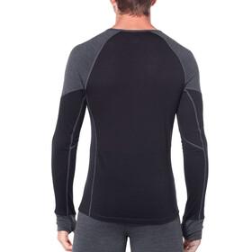Icebreaker 260 Zone Koszulka z długim rękawem Mężczyźni, jet heather/black